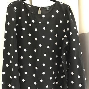 J Crew long sleeve blouse XL VGUC